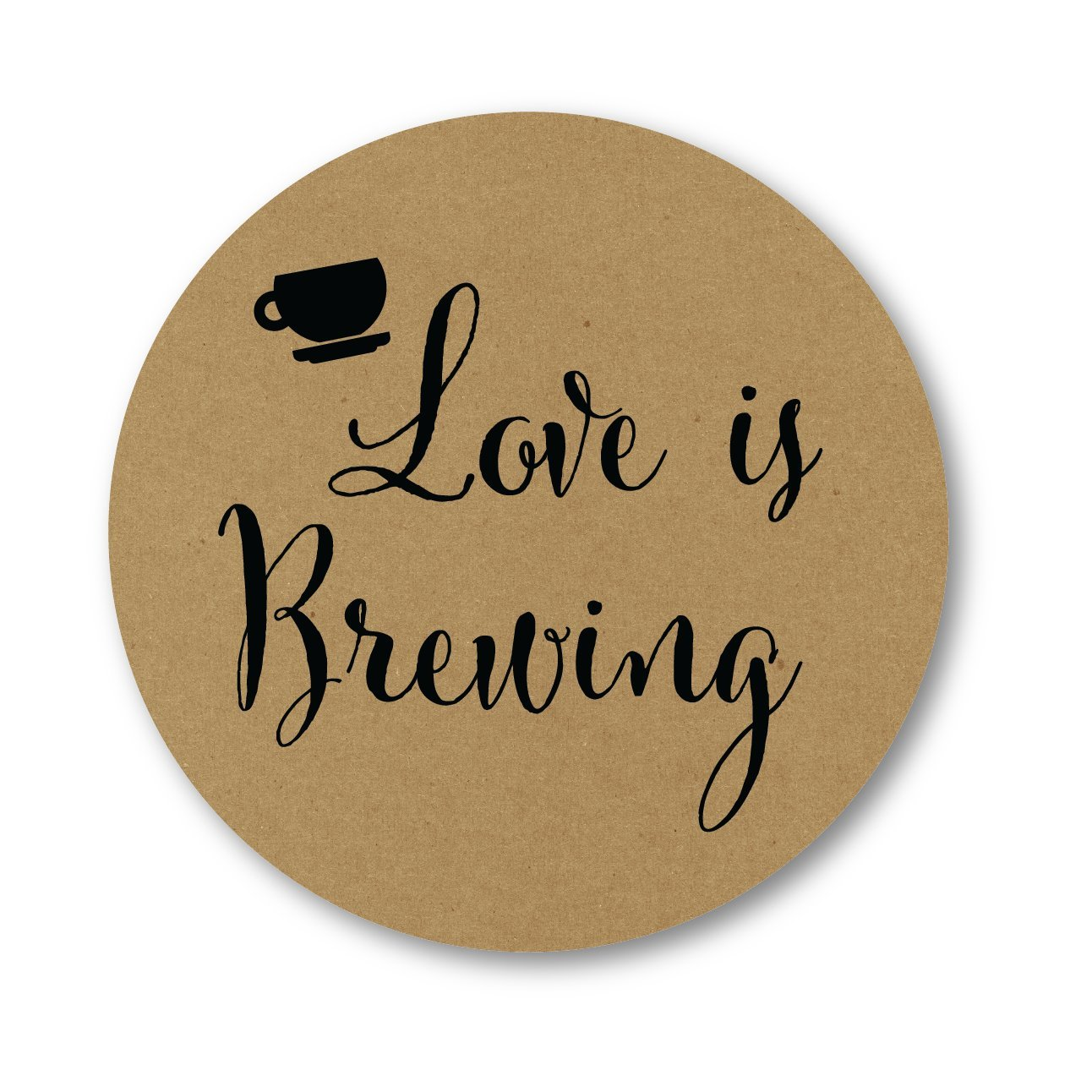 Love Is Brewing Wedding Stickers, Favors for Tea, Coffee or Beer (#095-KR)