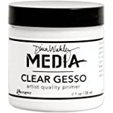 Ranger MDM46424 Dina Wakley Media Gesso 4oz Jar-Clear
