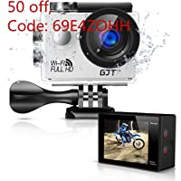 GJT GA1 12MP 1080p Full HD WiFi Sports Camera with Multi Accessories