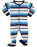 DinoDee Footed Pajama Sleeper 100% Cotton Stripes