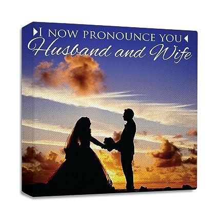 Amazon Com Married Couple I Now Pronounce You Husband And Wife