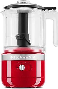 KitchenAid KFCB519PA Cordless Chopper, 5 cup, Passion Red