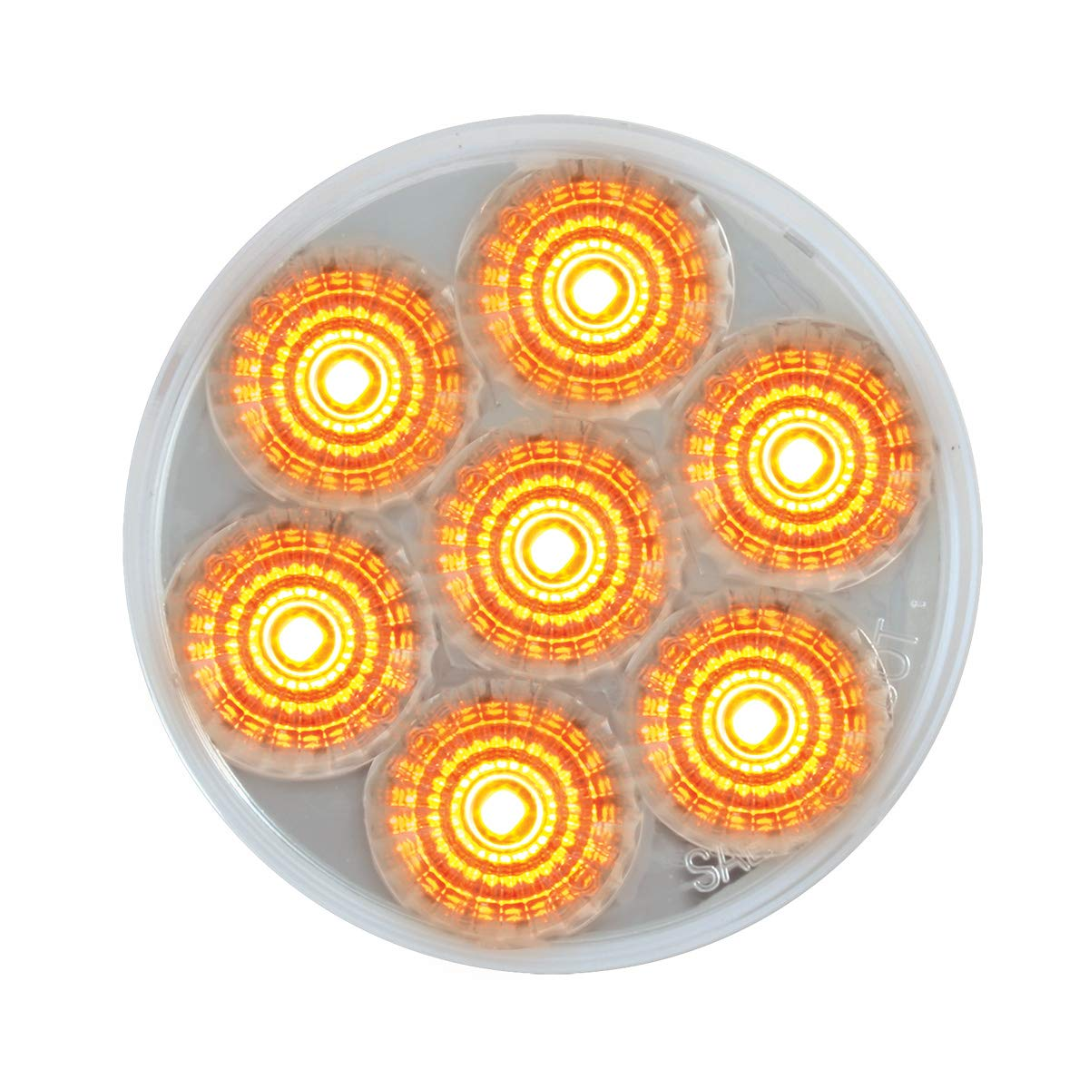Grand General 76666 Light 2.5 Low Profile Spyder Amber//Clear 7 LED Dual//3Wires