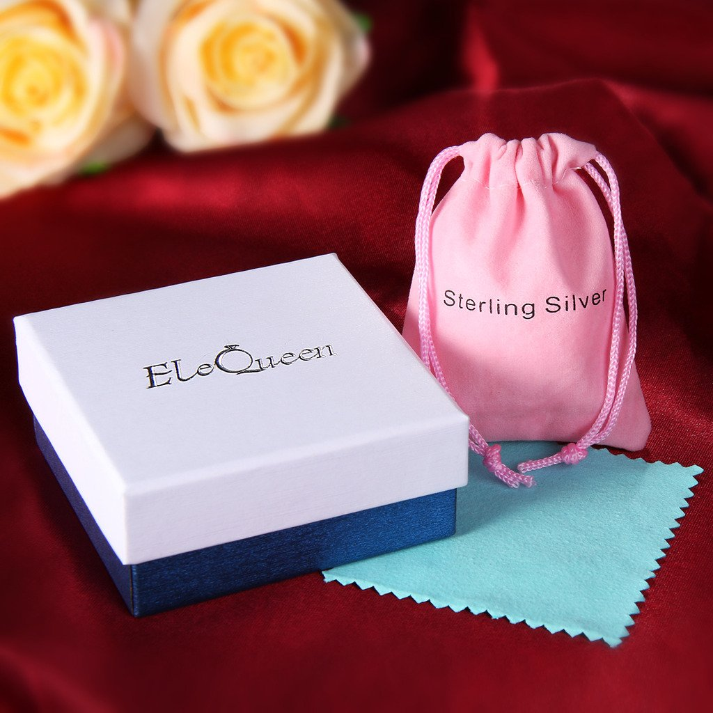 EleQueen 925 Sterling Silver Round CZ Double Love Heart Link Bracelet, 6.5+1.4 Extender 6.5+1.4 Extender 16000979ca