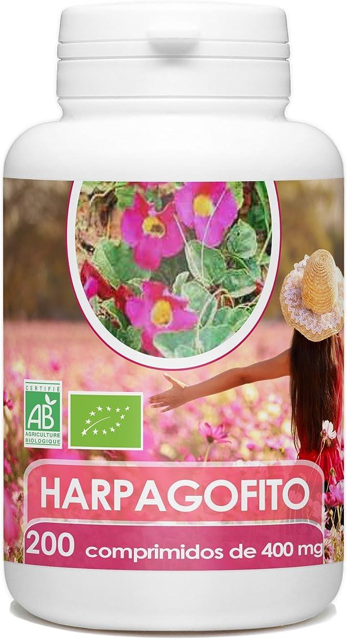 Harpagofito Orgánico - Garra del Diablo - 400mg - 200 comprimidos ...