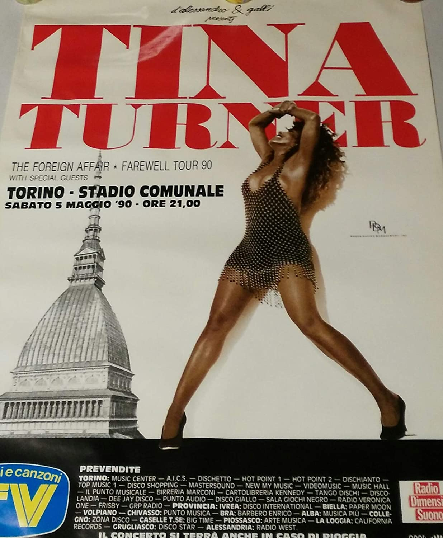 Tina Turner Turner Tina Foreign Affair: The Farewell Tour 90 Torino Stadio Comunale 05/05 Poster 148de5
