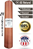 "Pink Butcher Kraft Paper Roll - 24 "" x 175 ' (2100 "") Peach Wrapping Paper for Beef Briskets - USA Made - All Natural FDA Approved Food Grade BBQ Meat Smoking Paper - Unbleached Unwaxed Uncoated Sheet"