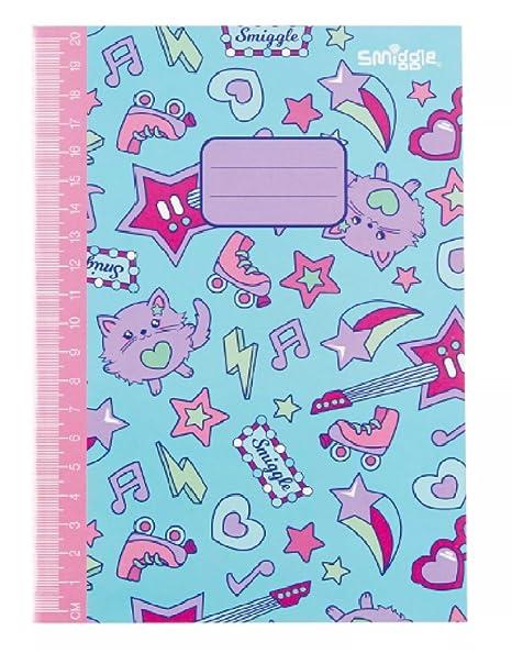 Smiggle A5 cuaderno forrado bonito libro de ejercicios de Maxmillones, color azul
