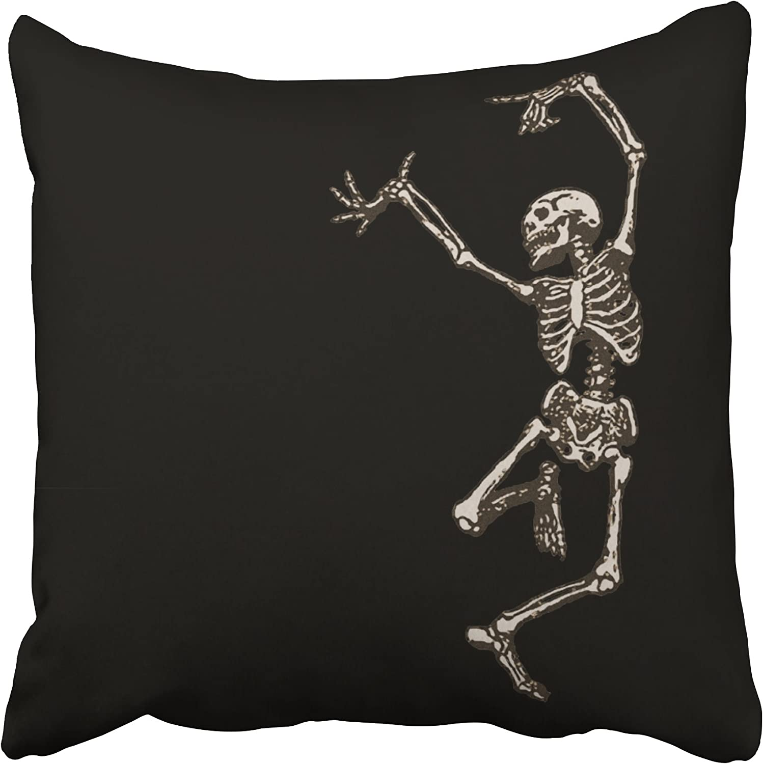 Accrocn Halloween Dancing Skeleton Throw Pillow Covers Cushion Cover Case 20x20 Inches Pillowcases One Sided Home Kitchen