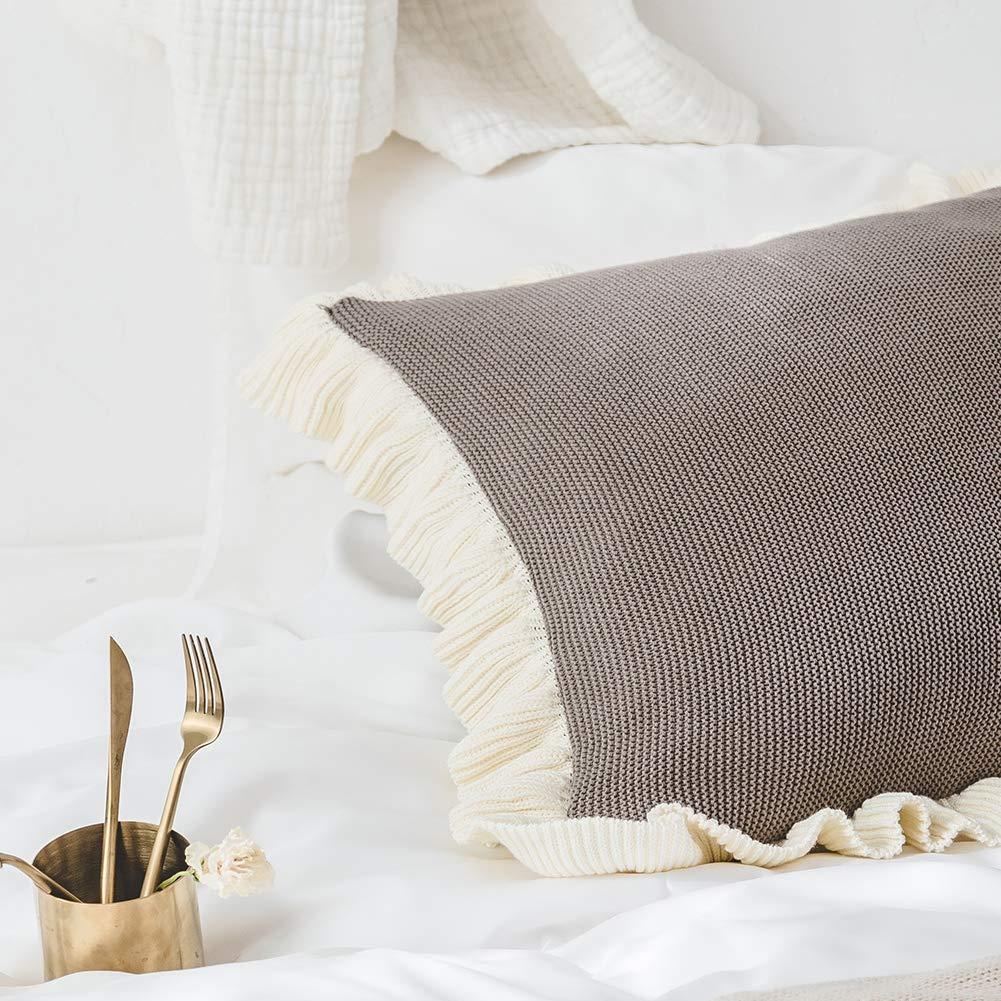 Amazon.com: OSVINO - Funda de almohada con flecos para ...