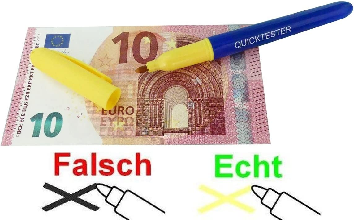 Genie Quick Tester Counterfeit Banknote Detector Pen 3 Piece