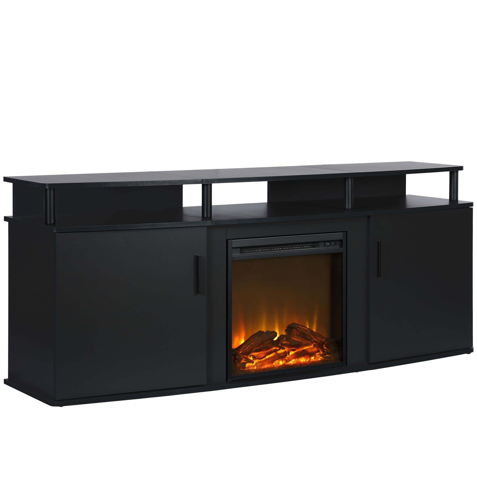 Ameriwood Home 1766396COM Carson Electric Fireplace TV Console, Black