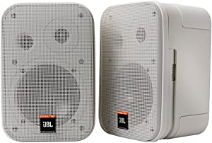 JBL Professional C1PRO-WH High Performance 2-Way Professional Compact Loudspeaker System, White, Sold as Pair