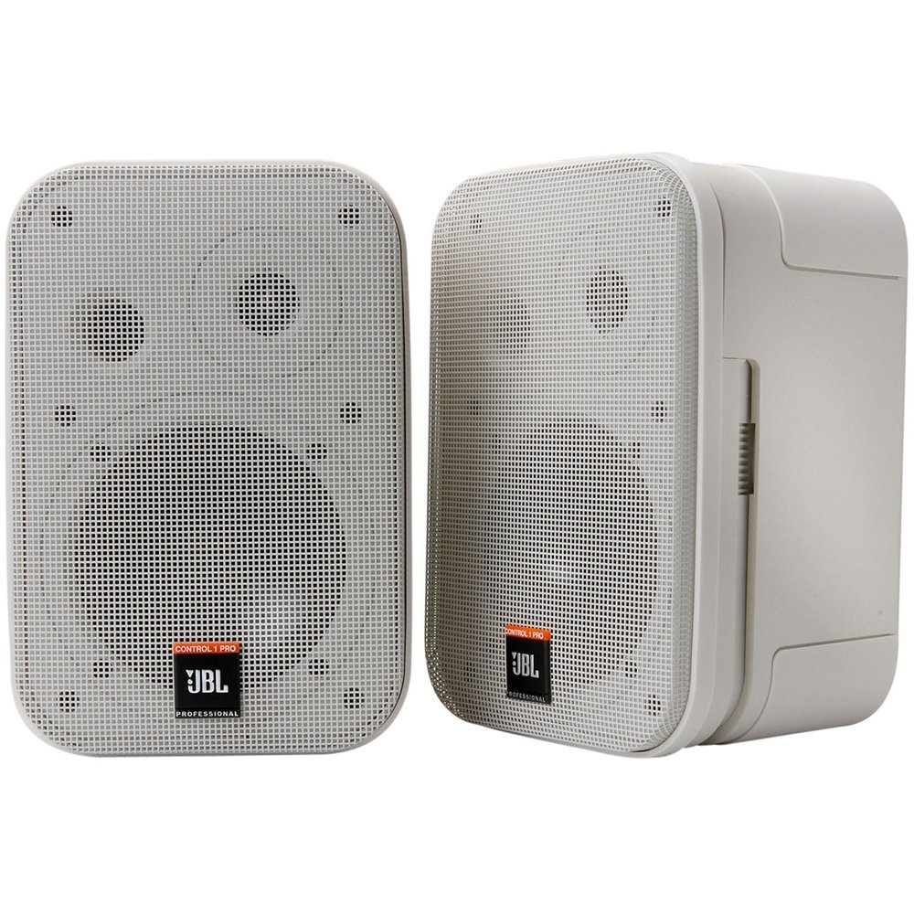 JBL Control 1 Pro High Performance 150-Watt Miniature Studio Monitor Speaker (Pair, Black) C1PRO