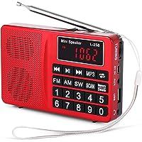 Radio L-258SW PRUNUS Portable SW/FM/AM(MW)/SD/TF/USB(0-64 GB) MP3. Large Bouton et Affichage. Enregistre Les Stations manuellement ou en Automatique. (sans la Fonction de mémorisation Manuelle)