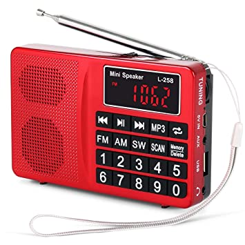 Radio Digitale Tuning Lcd Empfänger Tf Mp3 Player Fm Am Sw Volle Band Radio Tragbare Neue