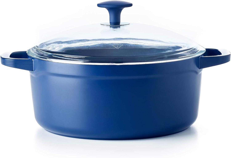 Blue Diamond Cookware Toxin-Free Ceramic Nonstick Big Batch Dutch Oven, 4.5QT (CC003222-002)