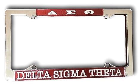 Amazon.com: Delta Sigma Theta Sorority Chrome Silver License Plate ...