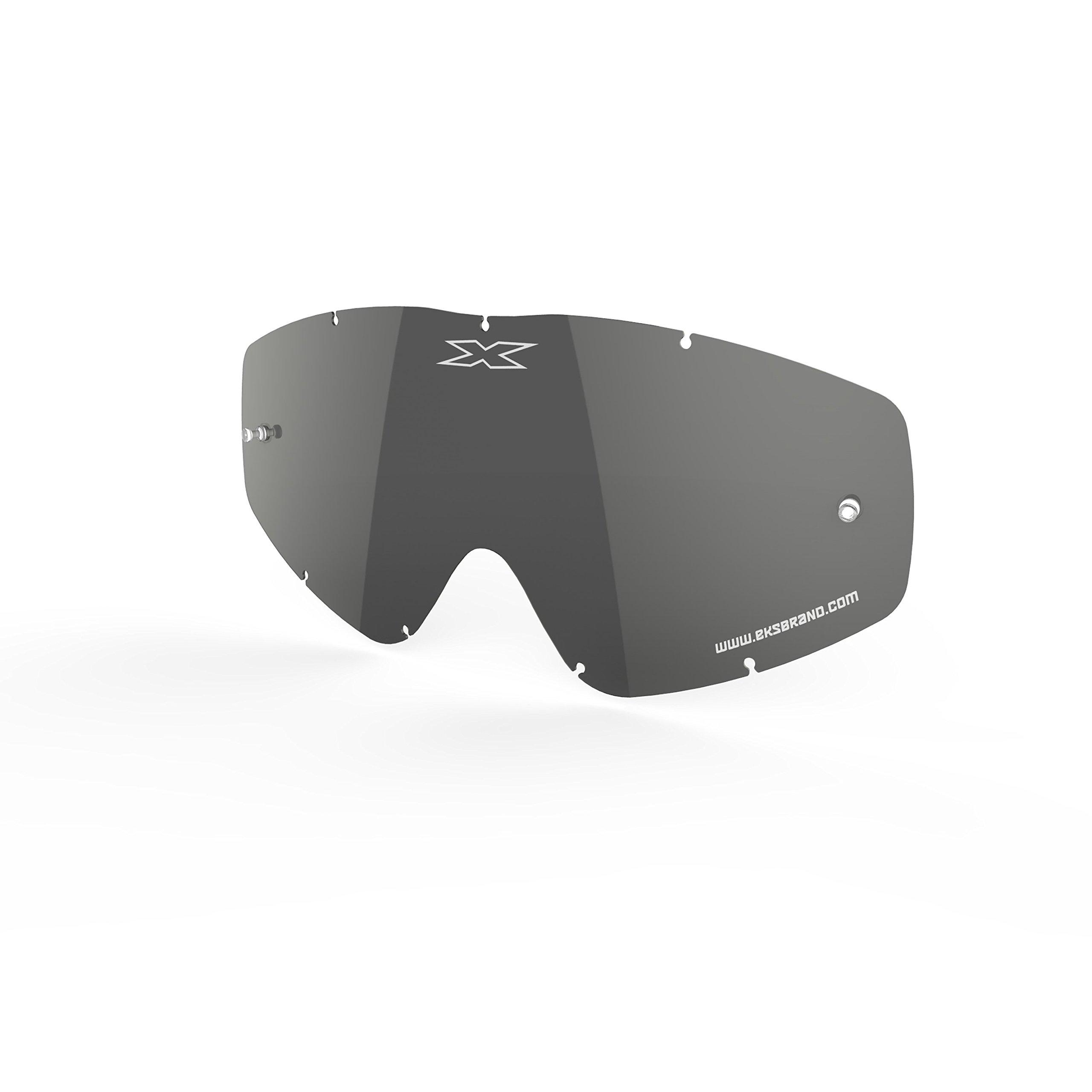 EKS BRAND Unisex-Adult Single Pane GOX MX Motorcross Goggle Replacement Lens (Silver, One Size)