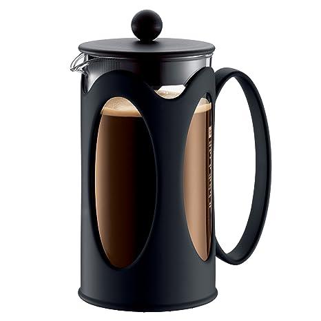 Amazon.com: Bodum New Kenya - Prensa de café, color negro ...