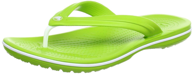 crocs Unisex-Erwachsene Crocband Flip Zehentrenner  48/49 EU|Gr眉n (Volt Green/White)