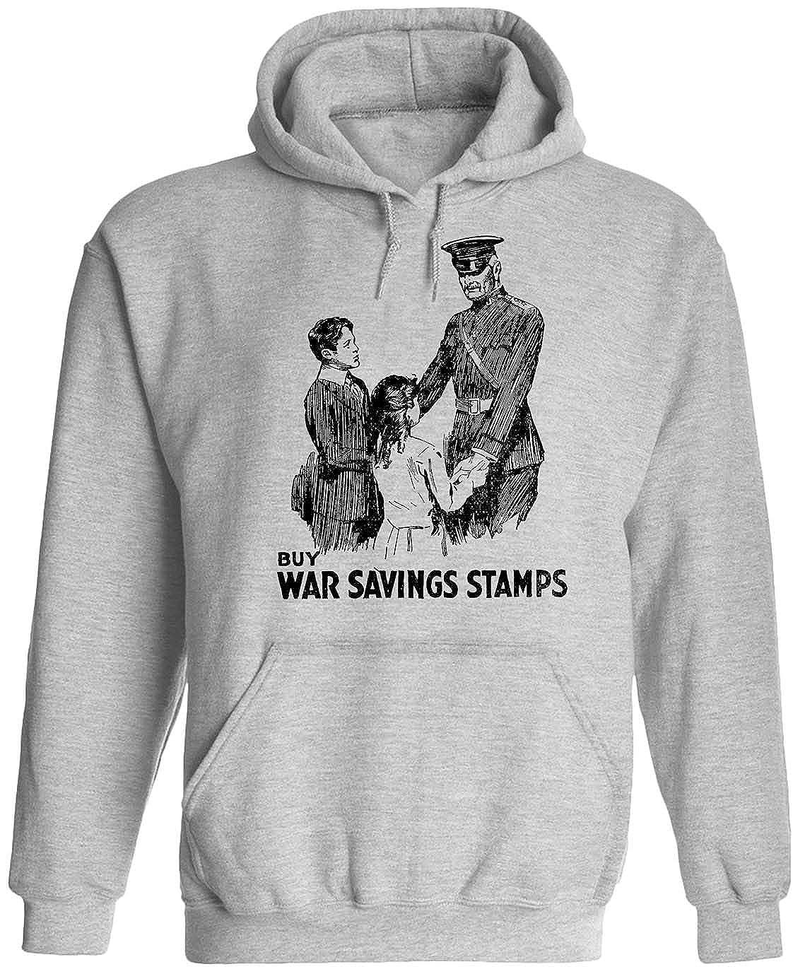 Austin Ink Apparel War Stamps Poster Unisex Adult Hooded Pullover Sweatshirt