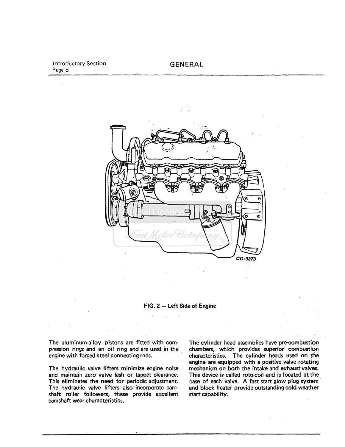 Bishko Automotive Literature 1983 1986 1987 Ford 69 Truck Technical Drawings And Schematics Section G Drivetrain Diesel Engine Shop Service Repair Book