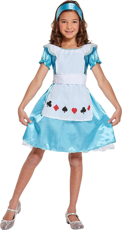 XL Kids Fairy Tale Wonderland Fairytale Fancy Dress Details about  /Girls Blue Alice Costume S