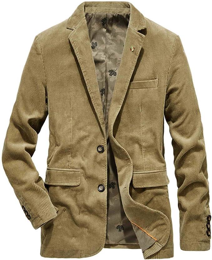 テーラードジャケット メンズ 秋冬 ジャケットコーデュロイ 大きいサイズ カジュアル アウター ブレザー 男性用