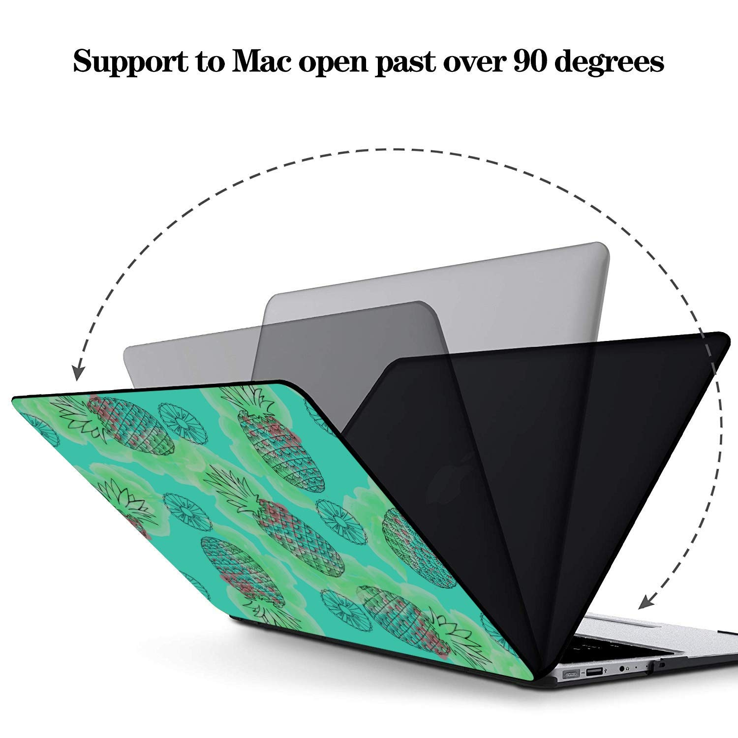 12 Inch MacBook Case Summer Sweet Cute Fruit Pineapple Plastic Hard Shell Compatible Mac Air 11 Pro 13 15 Laptop 13 Inch Case Protection for MacBook 2016-2019 Version