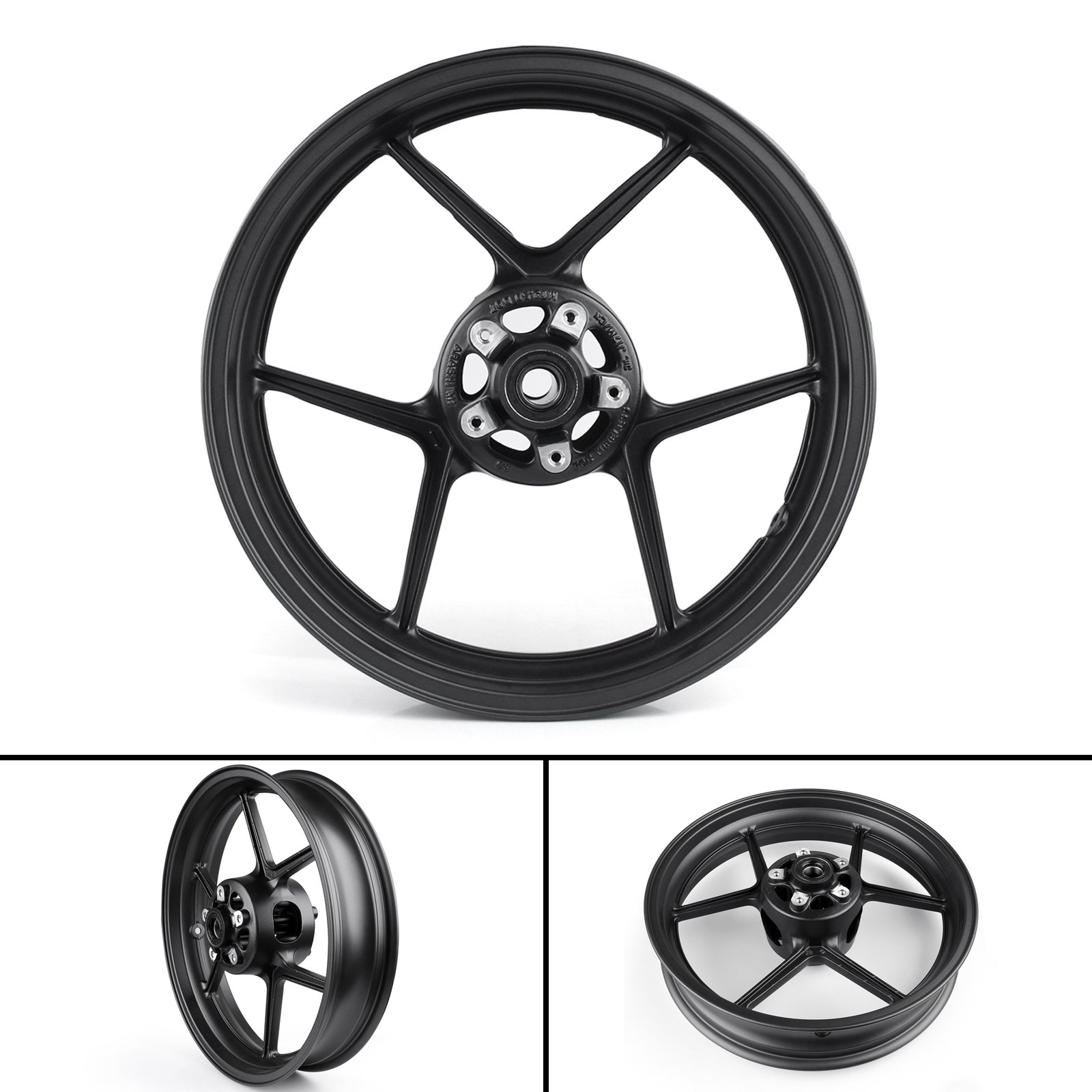 Areyourshop Front Wheel Rim For Kawasaki ZX6R 2005-2012 ZX10R 2006-2010 Black