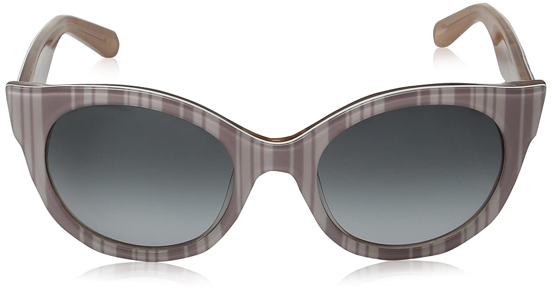 b192f0212f09 Amazon.com: Kate Spade Women's Melly/s Cateye Sunglasses Beige Stripe  White/Gray Gradient 53 mm: Clothing