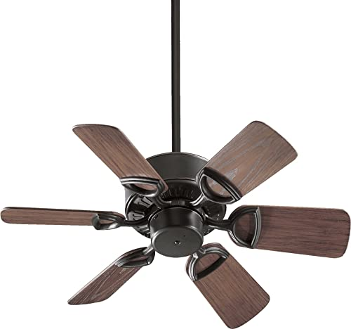 Quorum International 143306-95 Estate 6-Blade Patio Ceiling Fan with Walnut ABS Blades, 30-Inch, Old World Finish