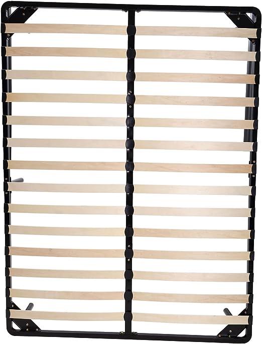 Homcom - Somier de 26 láminas de Madera de álamo, 135 x 185 x 20 cm