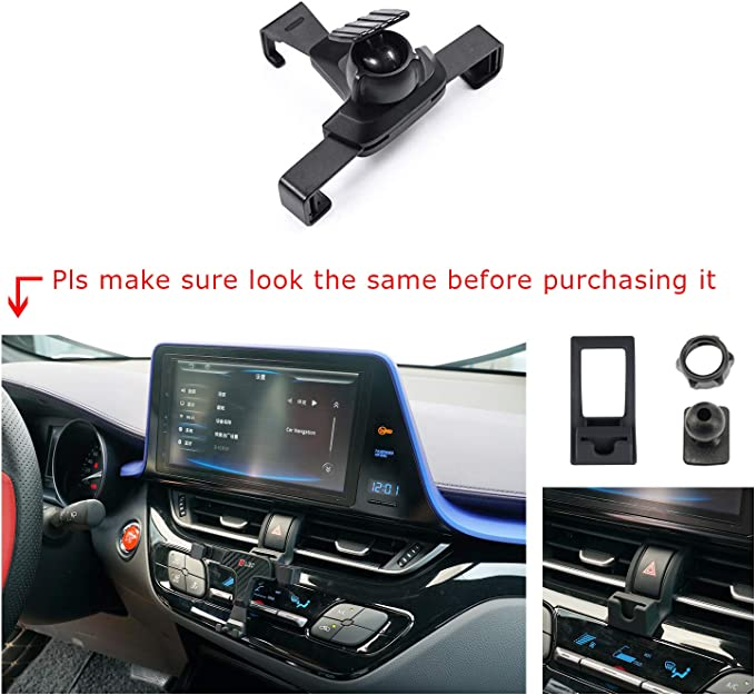 R RUIYA 2018 2019 Ca m ry Smartphone Cell Phone Mount Holder with Adjustable Air Vent Clip Cover Fit for 3.5-6.0 Inches Phone