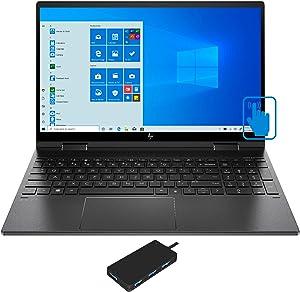 HP Envy x360 15z-ee000 Home and Entertainment Black Laptop (AMD Ryzen 7 4700U 8-Core,32GB RAM,1TB PCIe SSD,15.6