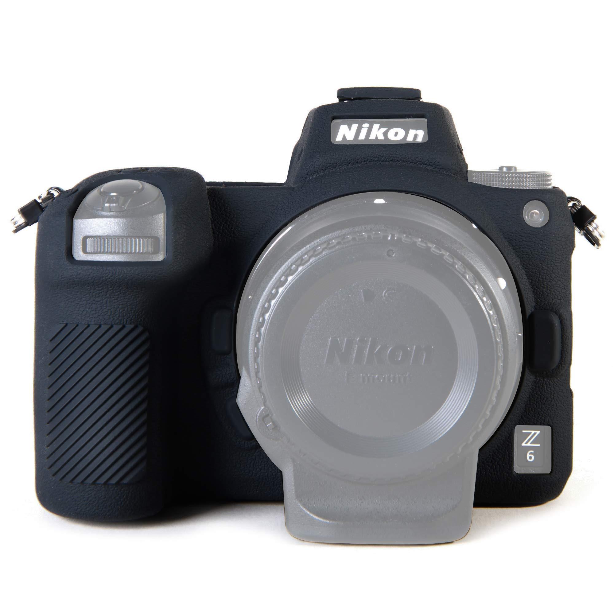 STSEETOP Nikon Z6 Z7 Camera Case, Professional Silicone Rubber Camera Case Cover Detachable Protective Case for Nikon Z6 Z7 (Black) by STSEETOP