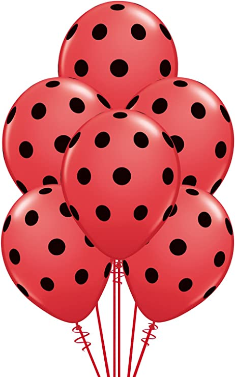 "Big Polka Dots Pastel Assortment 11/"" Qualatex Latex Balloons x 5"