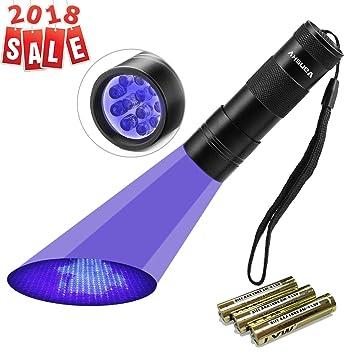 UV Torch, Vansky Pets Black Light 12Led Lights UV Dogs/Cats Urine Detector,