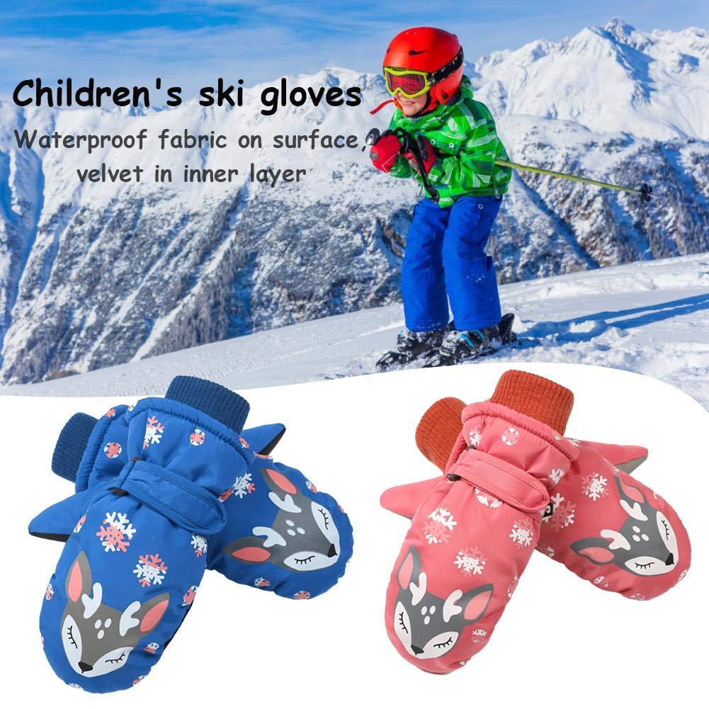 IrahdBowen Kinder Skihandschuhe Winddichte wasserdichte Langlebig Schnee Handschuhe Dreischichtige Warme Leicht Zu Tragen Winter Handschuhe F/ür Junge Und M/ädchen