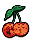 Nipitshop Patches Red Cherry Fruit Sequin Shine
