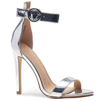 f6a48e165fdc Herstyle Charming Women s Open Toe Ankle Strap Stiletto Heel Dress Sandals  Elegant Wedding Party Shoes