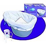 NRS Healthcare M66364 Sacchetti Monouso Non Biodegradabili per Sedia Comoda, Confezione da 20