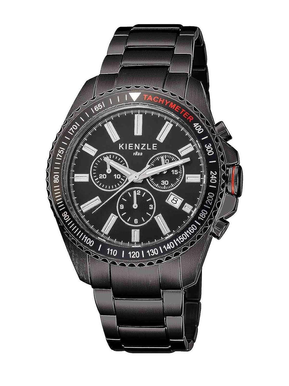 Kienzle K3051043042-00067 - Reloj analógico de cuarzo para hombre con correa de acero inoxidable, color negro: Amazon.es: Relojes