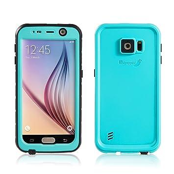 Merit Funda Impermeable para Galaxy S6, Carcasa contra Agua,Golpe y Polvo ,Sellada Plena,Funda de Protección,Protector para Samsung Galaxy S6 (Blue)