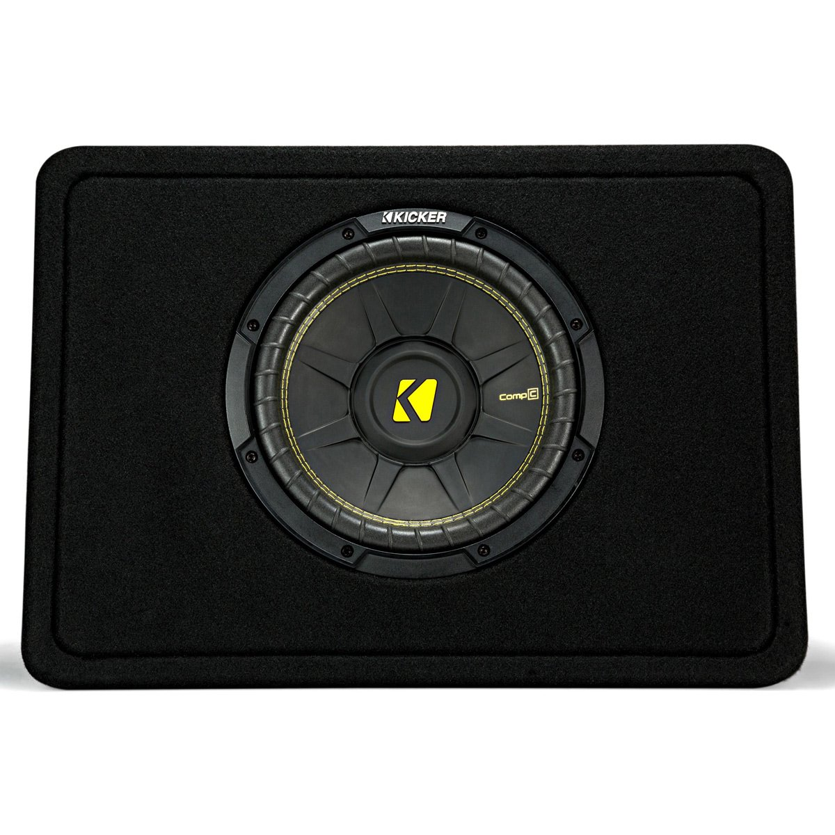 Kicker 10'' 600 Watt 4 Ohm Vented Thin Profile Subwoofer Enclosure | 44TCWC104