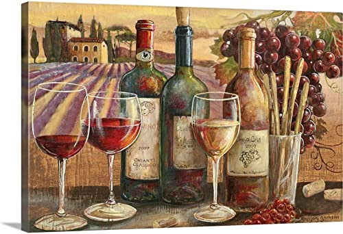 Vineyard Fruits Canvas Wall Art Print