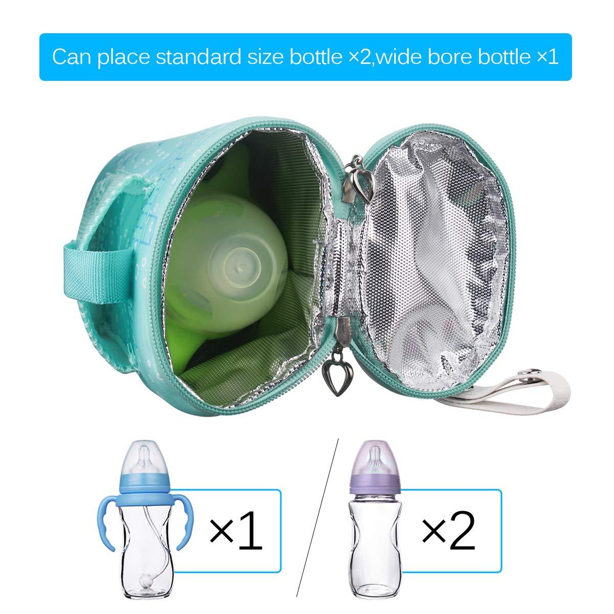 Reisebecher Milchw/ärmer F/ütterungs Krankenpflege Flasche Isolierte Aufbewahrungstasche USB Aufladung tragbare Baby S/äuglingsflaschen Heizung ALLOMN Flaschenw/ärmer Tasche