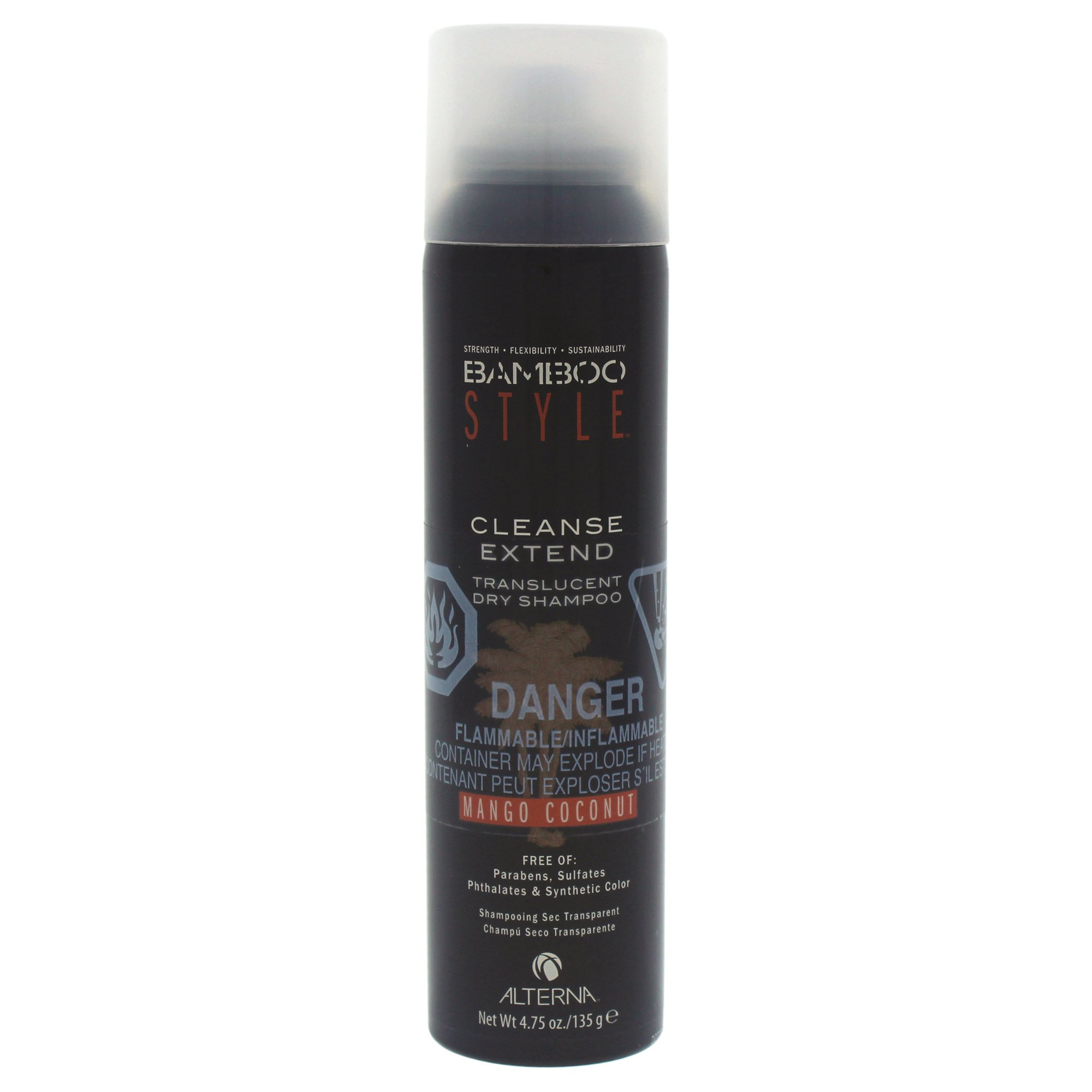 Alterna Bamboo Style Cleanse Extend Translucent Dry Shampoo Mango Coconut for Unisex, 4.75 Ounce