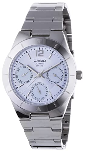 Casio Collection – Damen-Armbanduhr mit Analog-Display und Edelstahlarmband – LTP-2069D